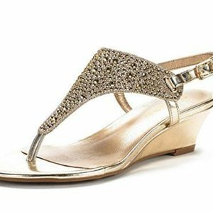 2 inch gold wedge - Size 7